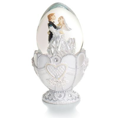 Picture of EGG SHAPE MUSICAL CAROUSEL WEDDING COUPLE