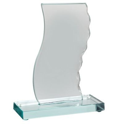 Picture of GLASS TROPHY AWARD with Green Base