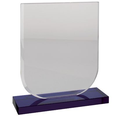 Picture of GLASS TROPHY AWARD with Blue Base