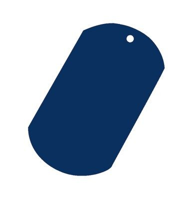Picture of ALUMINIUM METAL DOG TAG in Blue