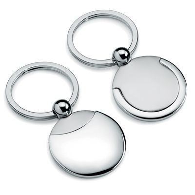 Picture of ROUND METAL KEYRING in Silver