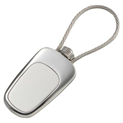 Picture of SATIN SILVER METAL CABLE KEYRING