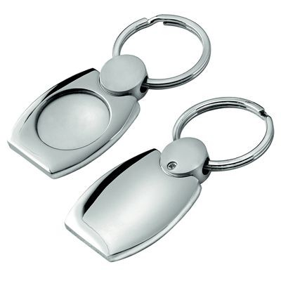 Picture of METAL KEYRING in Satin & Shiny Silver