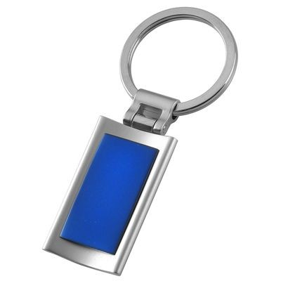 Picture of METAL KEYRING in Silver & Blue