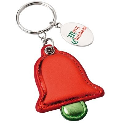 Picture of CHRISTMAS BELL KEYRING in Green & Red