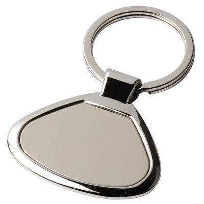 Picture of METAL KEYRING in Silver with Matt Plate