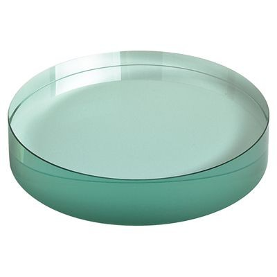 Picture of ROUND PAPERWEIGHT in Green Glass