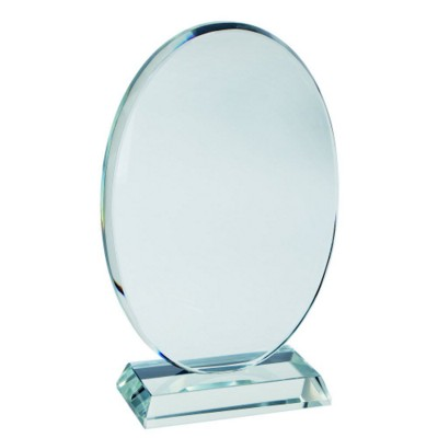Picture of OVAL SHAPE GLASS TROPHY AWARD
