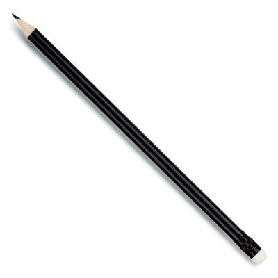 Picture of WOOD PENCIL in Black with White Eraser