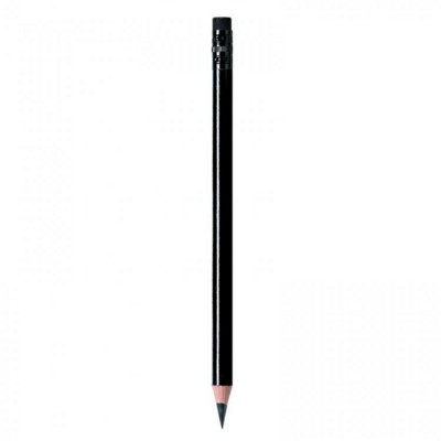 Picture of WOOD PENCIL in Shiny Black with Black Eraser