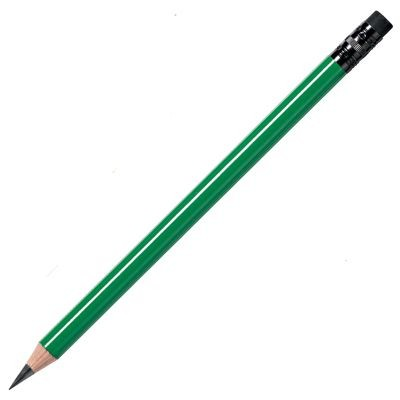 Picture of WOOD PENCIL in Green with Black Eraser