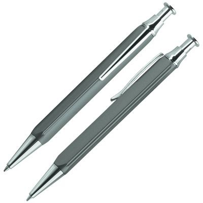Picture of TRIANGULAR METAL BALL PEN in Grey