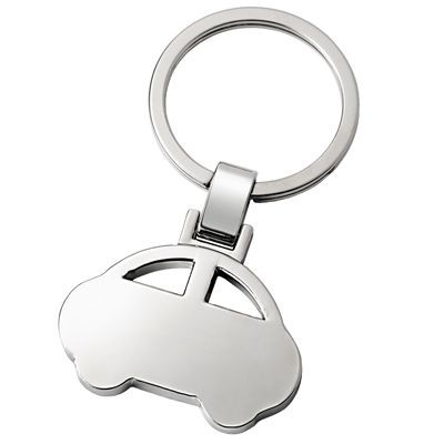 Picture of CAR SILVER METAL KEYRING with Ring
