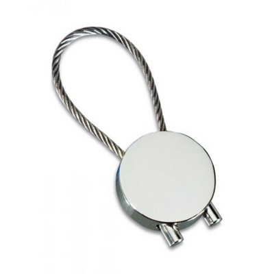 Picture of SHINY SILVER CHROME METAL KEYRING