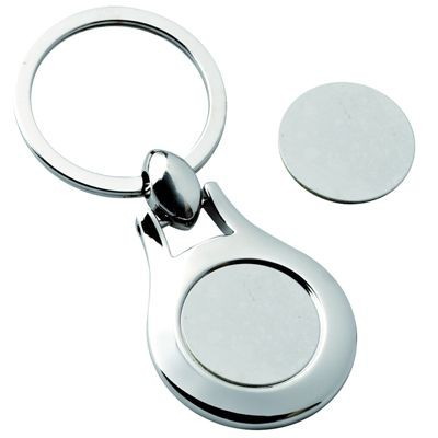 Picture of GROOVE ROUND SILVER METAL KEYRING