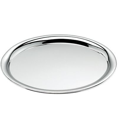 Picture of OVAL SILVER CHROME METAL SERVING TRAY