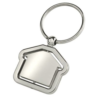 Picture of HOUSE KEYRING in Silver Metal