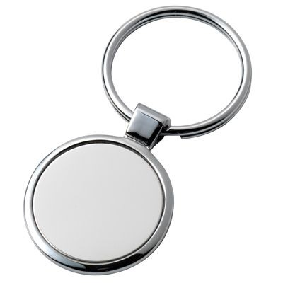 Picture of ROUND SILVER CHROME METAL KEYRING