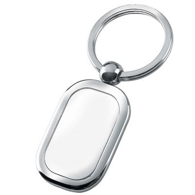 Picture of SILVER CHROME METAL KEYRING