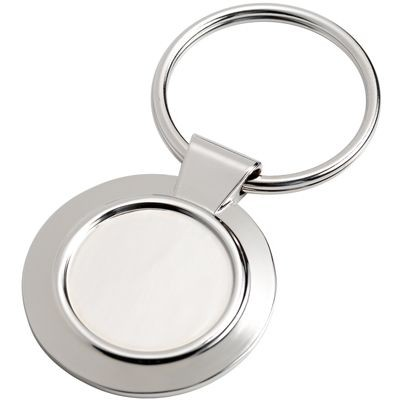 Picture of SILVER METAL ROUND KEYRING