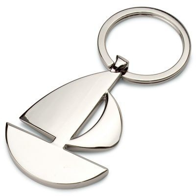 Picture of SAILING BOAT YACHT KEYRING in Silver Metal