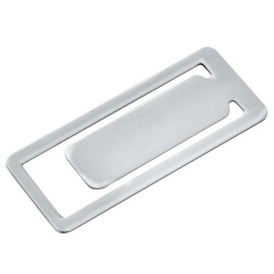 Picture of RECTANGULAR SILVER CHROME METAL BOOKMARK
