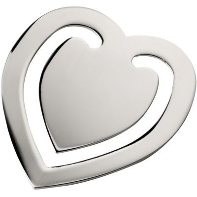 Picture of HEART SILVER CHROME METAL BOOKMARK
