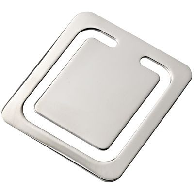 Picture of SQUARE SILVER CHROME METAL BOOKMARK