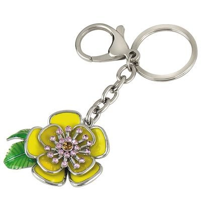 Picture of FLOWER SILVER METAL KEYRING