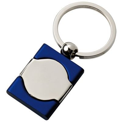 Picture of METAL KEYRING in Blue & Silver Chrome Finish