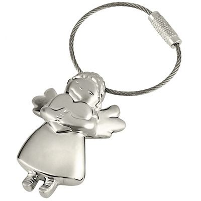 Picture of LITTLE ANGEL SILVER METAL KEYRING