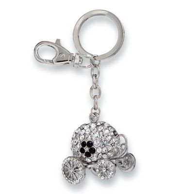 Picture of CARRIAGE METAL KEYRING with Crystals