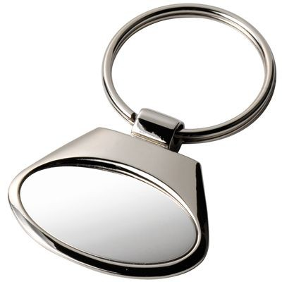 Picture of OVAL SILVER CHROME METAL KEYRING