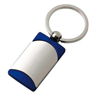 Picture of SILVER METAL & BLUE KEYRING