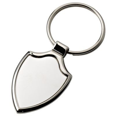 Picture of SHIELD SILVER CHROME METAL KEYRING