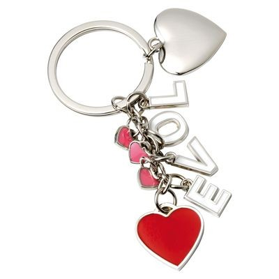 Picture of FOUR HEARTS METAL KEYRING