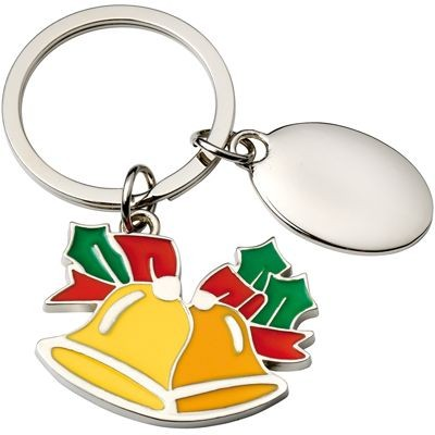 Picture of CHRISTMAS BELLS METAL KEYRING