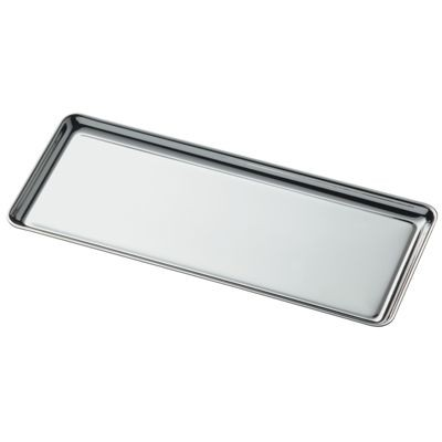 Picture of RECTANGULAR SILVER CHROME METAL PEN HOLDER TRAY