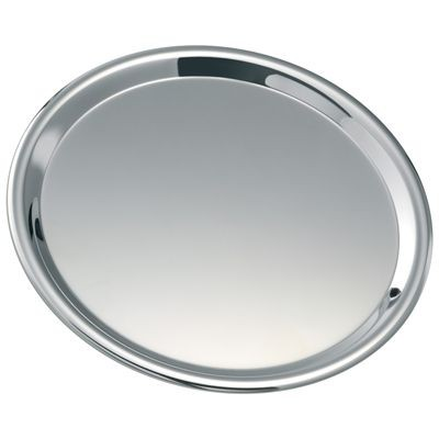 Picture of ROUND SILVER CHROME METAL TRAY
