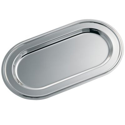 Picture of OVAL SILVER CHROME METAL TRAY