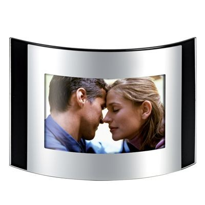 Picture of CURVE SHINY SILVER METAL PHOTO FRAME