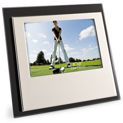 Picture of GLASS & SHINY SILVER METAL PHOTO FRAME