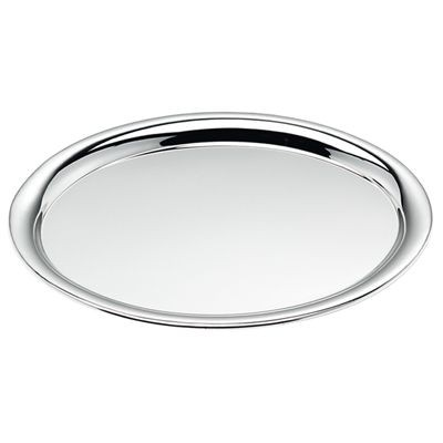 Picture of OVAL SHINY SILVER METAL TRAY