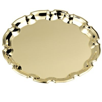Picture of ROUND SHINY SILVER METAL TRAY