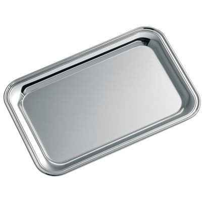 Picture of RECTANGULAR SHINY SILVER METAL TRAY