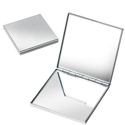 Picture of SQUARE SILVER CHROME METAL DOUBLE MIRROR
