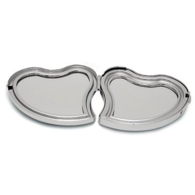 Picture of HEART SHAPE HANDBAG MIRROR in Silver Chrome Metal