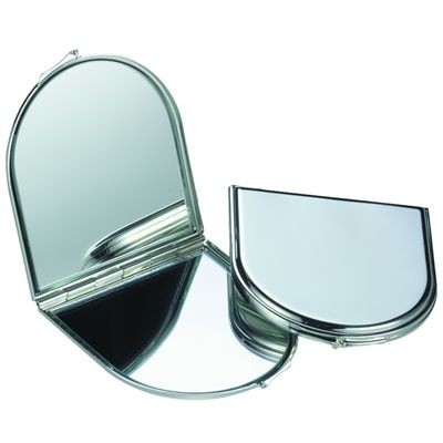 Picture of ARCH SHAPE HANDBAG MIRROR in Silver Chrome Metal