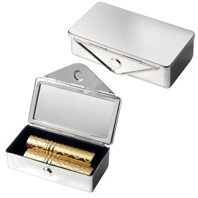 Picture of SILVER METAL LIPSTICK HOLDER with Mirror
