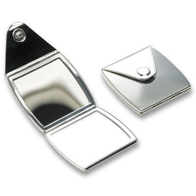 Picture of VANITY SILVER METAL COMPACT POCKET MIRROR
